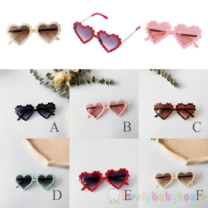 ♛❀♛Kids Toddler Heart Shaped Sunglasses Cute Fashion UV Protection Sun Glass for Childrens Boy Girl