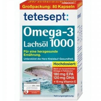 Dầu cá Tetesept Omega 3 Lachsöl 1000 - Đức