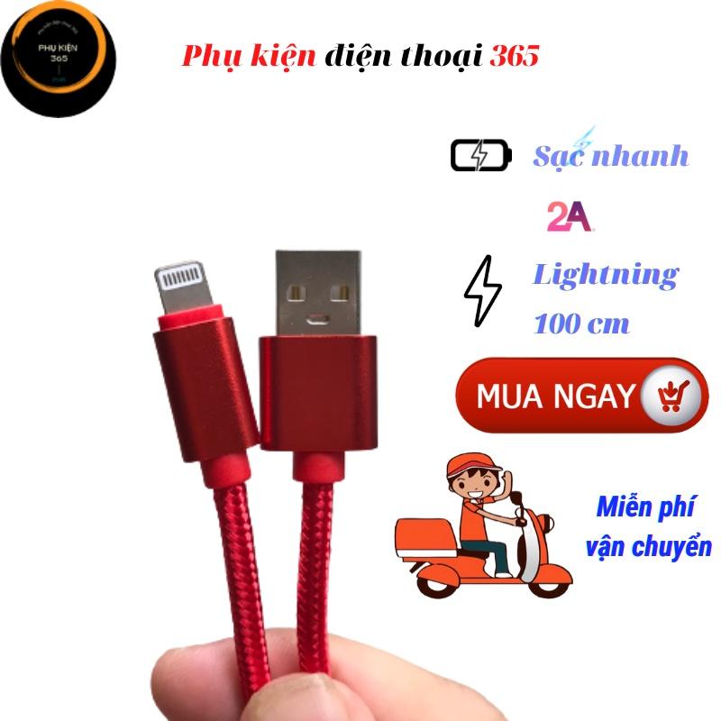 Dây cáp sạc iphone, dây cáp sạc nhanh, dây sạc iphone ipad dây dù chống đứt, cáp sạc lightning, cáp sạc giá rẻ
