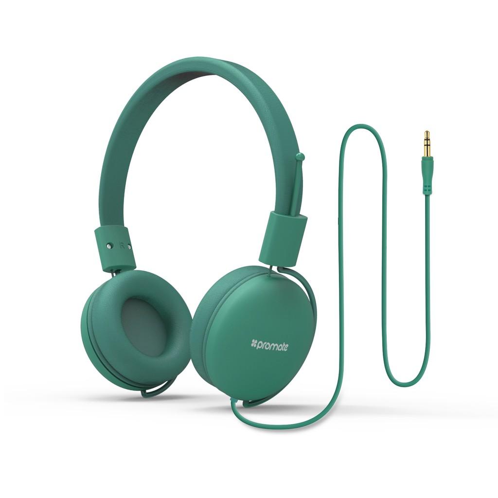 Tai nghe On-Ear Promate Soul bọc đệm mềm (Xanh lá)