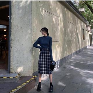 (Order/Bigsize) Chân Váy Caro Dài Nữ Sinh Hàn Quốc – Js193 Xịn