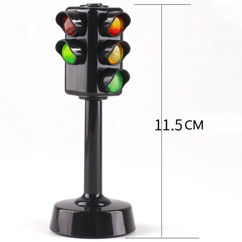 [New]-[Temil] 5Pcs/Set Family Traffic Safety Education Toy Traffic Lights Car Toy Collection el Red Green Light Lamp Kids Baby Gift