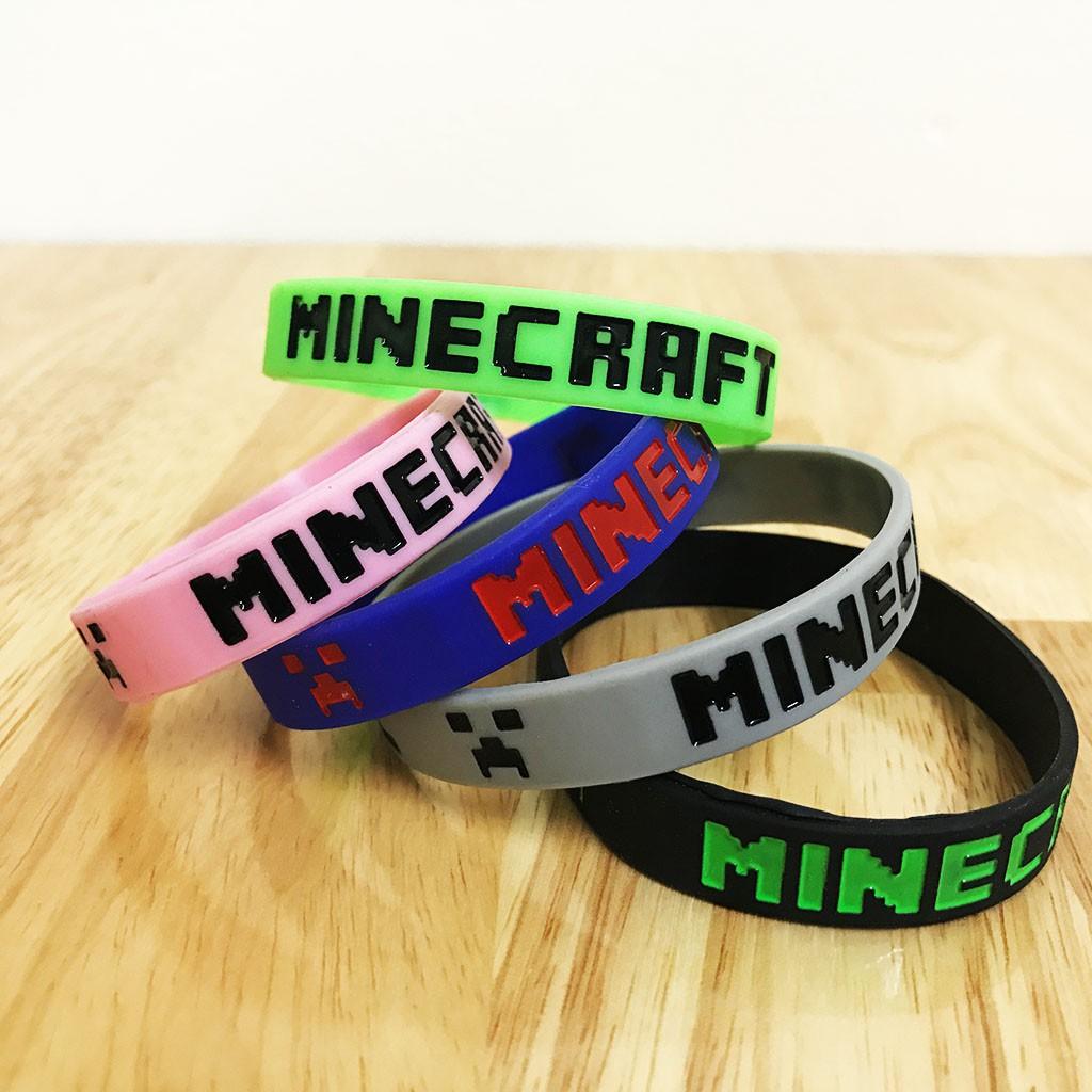 Bộ vòng đeo tay Minecraft 5 màu