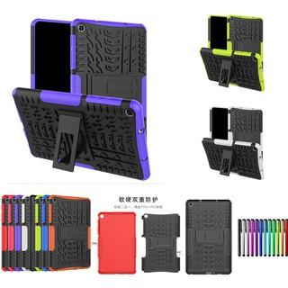 Sale 70% Ốp lưng 2 lớp mặt thô có giá đỡ chống sốc dành cho Samsung Tab A 8.0 2019, Black Giá gốc 180,000 đ-17C131