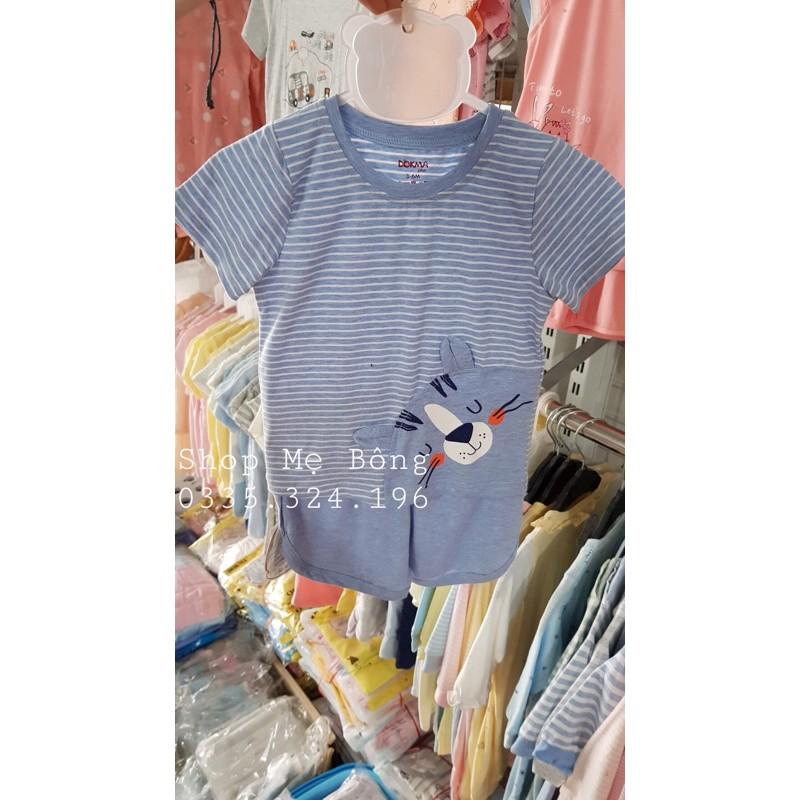 [DMB236] Bộ quần áo cổ tròn cộc tay Dokma (9-24M)