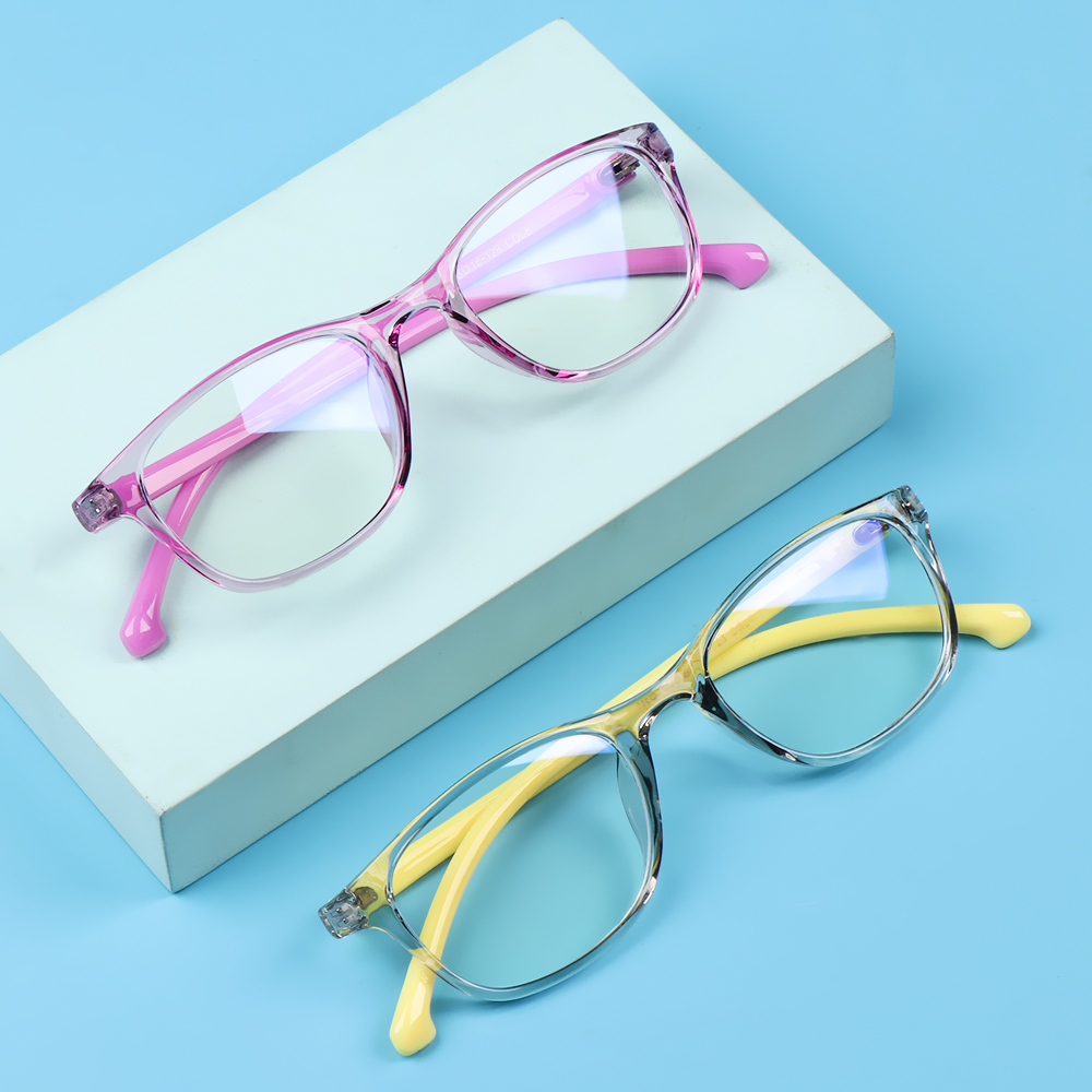 JUNE Children Boys Girls Kids Glasses TR90 Anti-blue Light Comfortable Eyeglasses Portable Online Classes Fashion Computer Eye Protection Ultra Light...