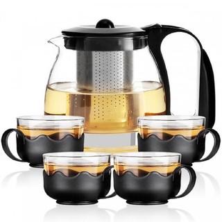 Bộ ấm trà lõi lọc và 4 ly thuỷ tinh thumbnail