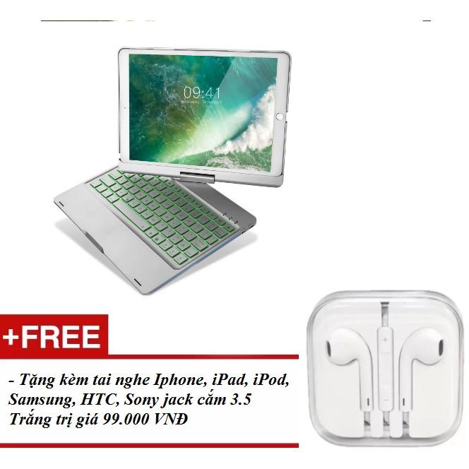 [ HÀNG NHẬP KHẨU] Bàn phím Bluetooth không dây cao cấp cho Ipad Pro 10.5(Màu Bạc) - Tặng kèm hấp dẫn
