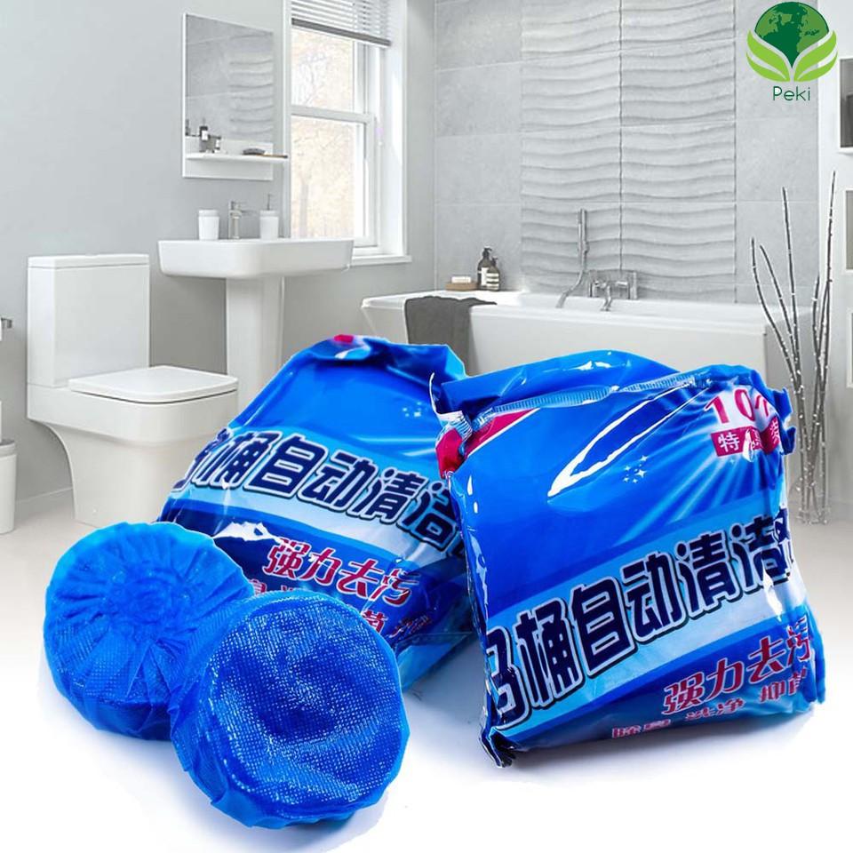 Combo 4 Tẩy lồng máy giặt hàn quốc siêu sạch 450g + 10 viên tẩy bồn cầu + 2 kẹp đồ nhựa