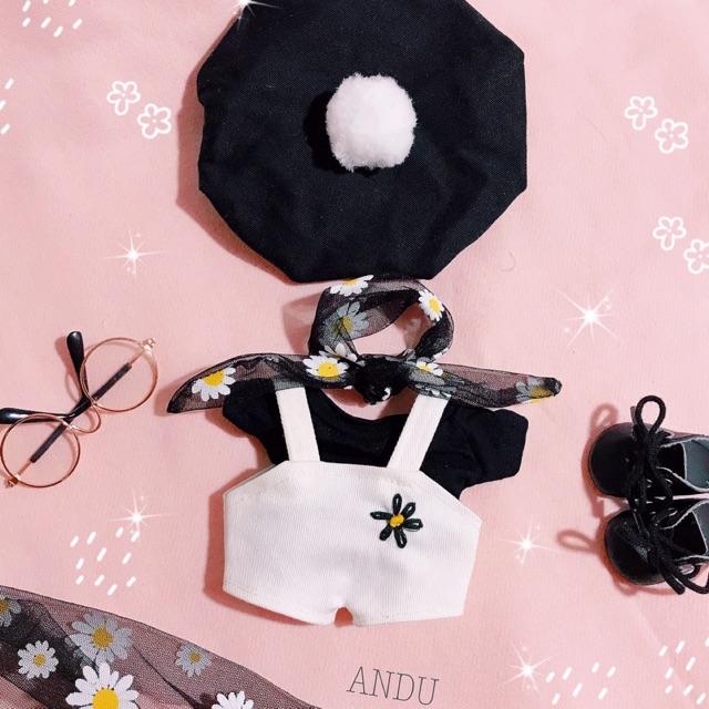 Outfit cho doll (set cúc đen)