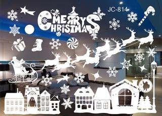 Decal Dán Cửa Hoạ Tiết Giáng Sinh