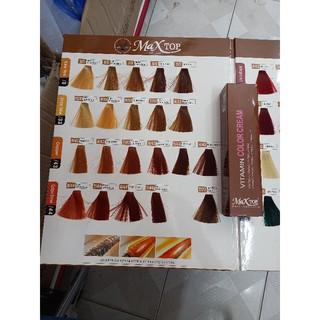 [477-1033]Màu Nhuộm Tóc Maxtop Collagen cho salon 100ml