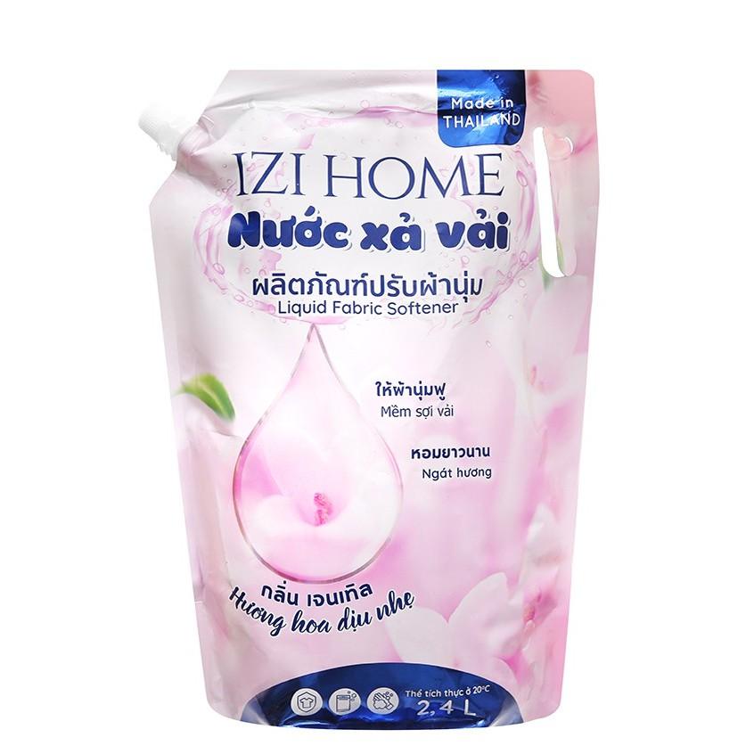 2.4L Nước Xả Vải Nhập Khẩu Thái Lan hương hoa dịu nhẹ (túi 2.4 lít)