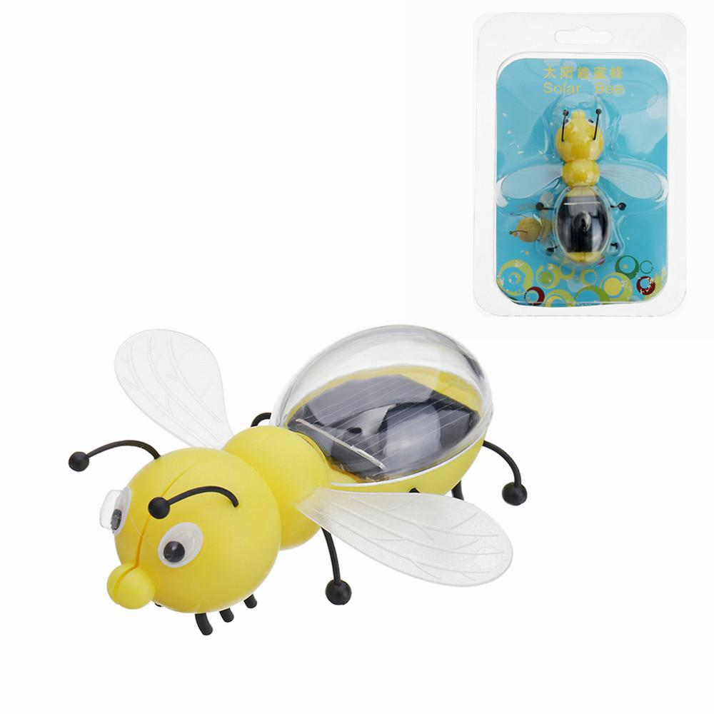 8cm Solar Power Toy Bee Developmental Gadget Toy Animal For Kid Gift