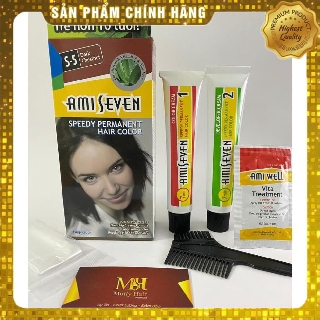 [HÀNG TỐT] Nhuộm phủ bạc dược thảo Amiseven nhanh 7 phút AMI SEVEN (Loại tiết kiệm) S4 (60g + 60g) Hàn Quốc thumbnail