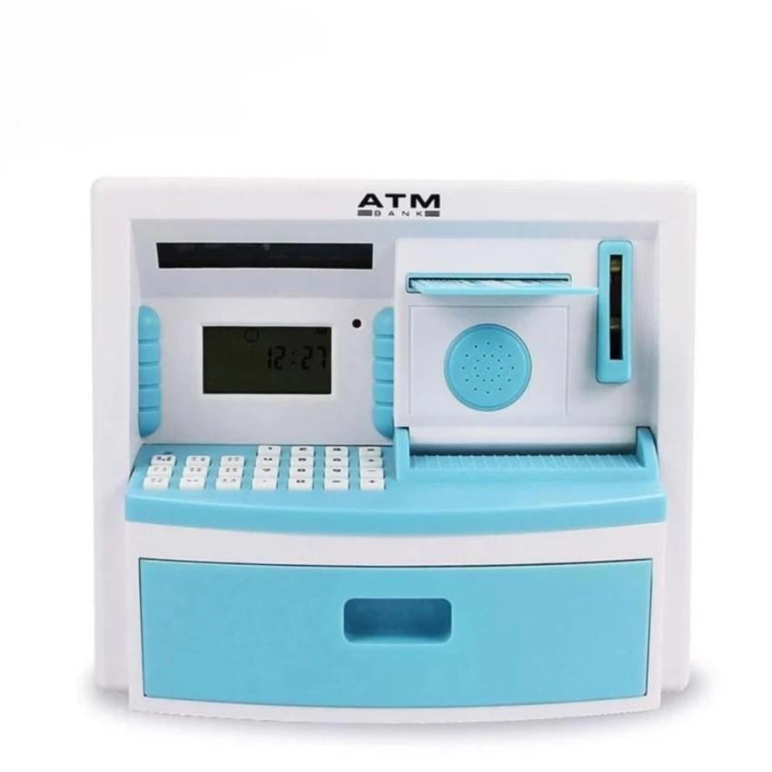Cây rút tiền mini có thẻ ATM cho bé✔ Két sắt thông minh đồ chơi cho bé (Màu ngẫu nhiên) -dc2482