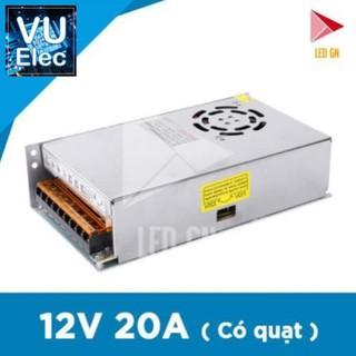 Nguồn 12V 20A Có Quạt – Chuyển Đổi Điện Áp 220V về 12V 20A – 80% Công Suất
