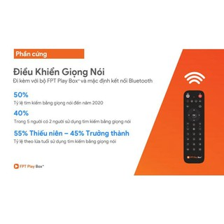 (Chính Hãng) Remote Điều Khiển Giọng Nói Cho FPT Play Box 2019