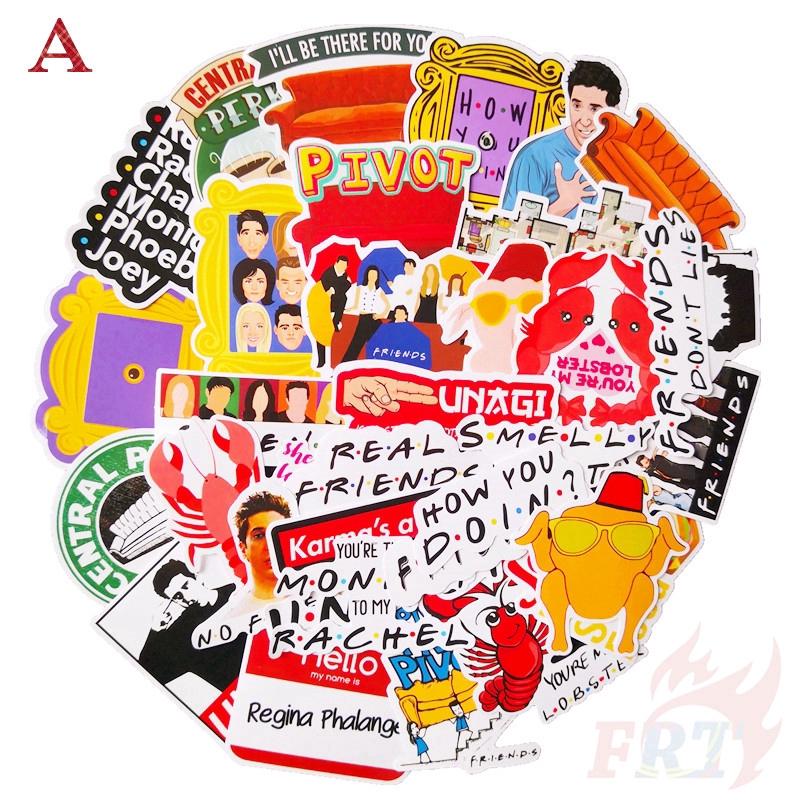 Bộ 34/64 miếng sticker hình ảnh phim truyền hình Những Người Bạn Series 02 dán trang trí đẹp mắt