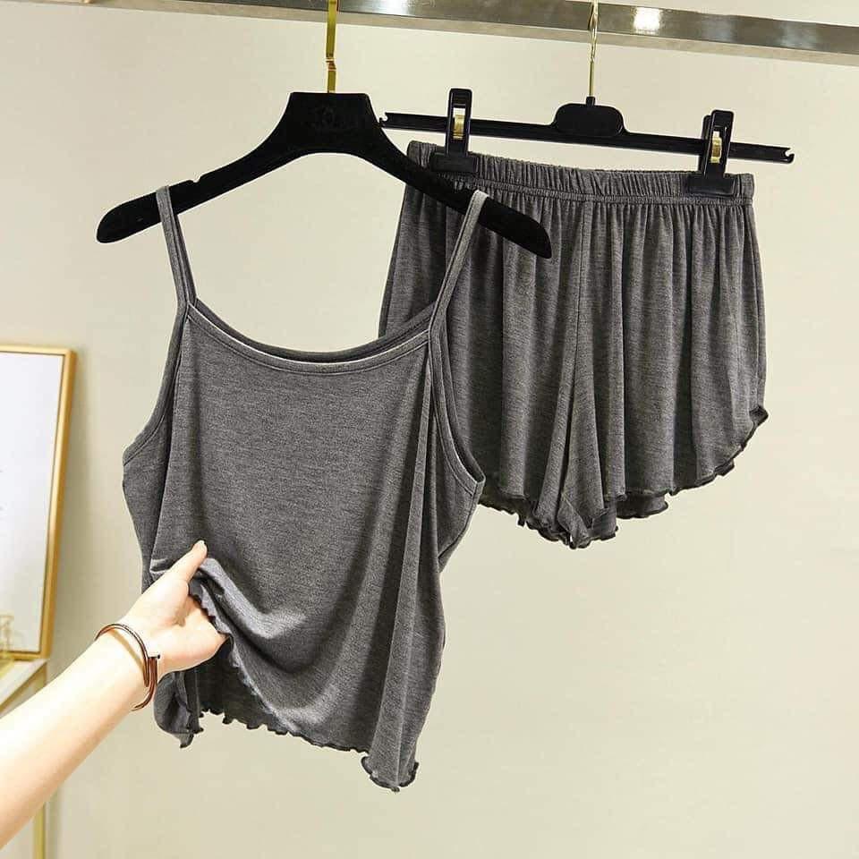 Mặc gì đẹp: Ngủ ngon hơn với Đồ ngủ 2 dây sexy vải thun lạnh 4 chiều cao cấp size tử 40-65kg
