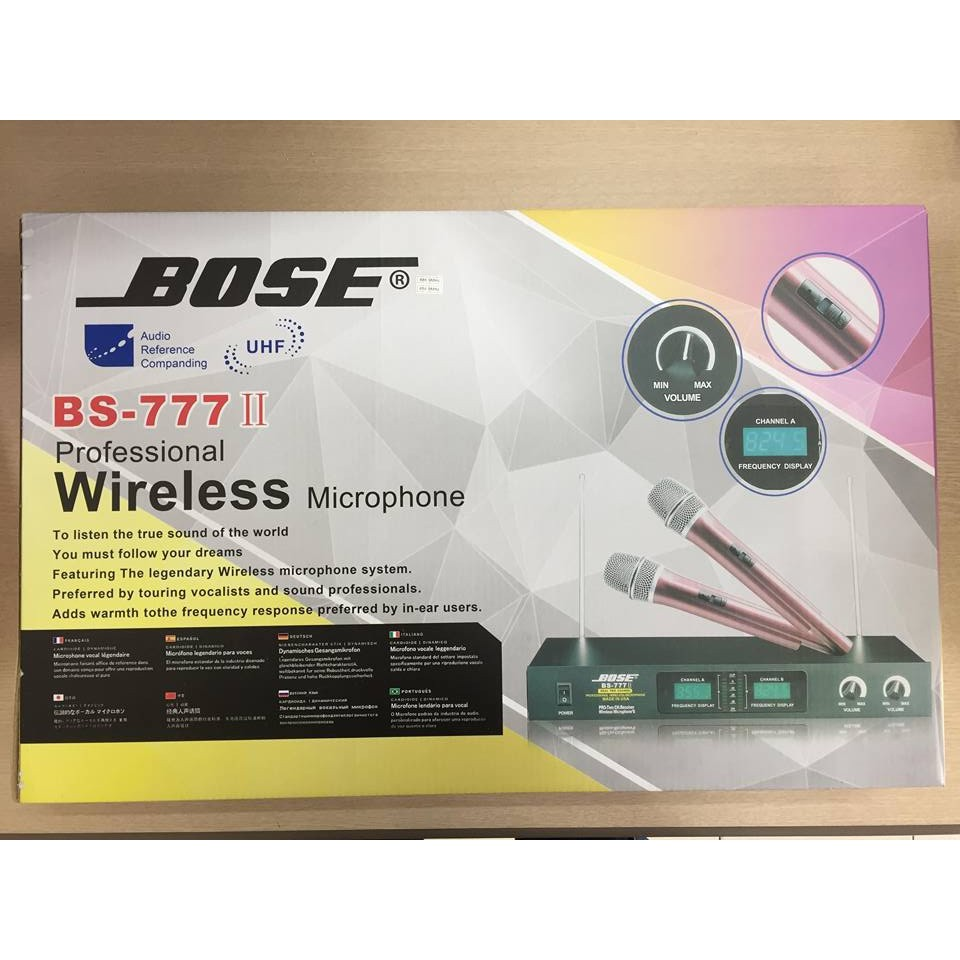 Micro không dây BOSE 777 II âm thanh cực chuẩn