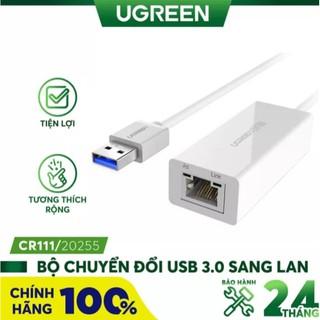 Cáp Chuyển USB 3.0 Sang LAN Gigabit 10 100 1000 Ugreen 20255 - Hàng Chính Hãng thumbnail