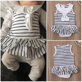 ❀Strawberries❀-NEW Fashion Bow Tie Newborn Baby Girls Cotton Romper Striped