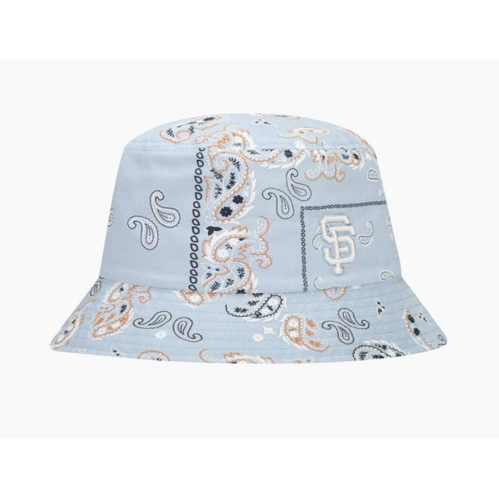 Mũ Bucket MLB paisley xanh SF