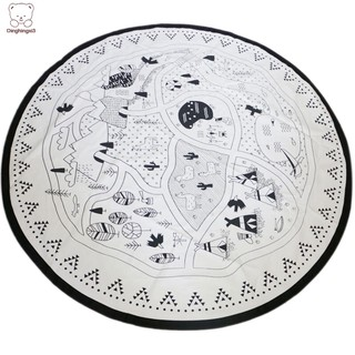 Baby Nursing Photo Props Blanket Floor Playmat Animal Round Carpet