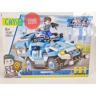Lego CAYI-1536 Lắp Ráp Xe Cảnh Sát Cơ Động – Police Thunder ( 290 Mảnh )