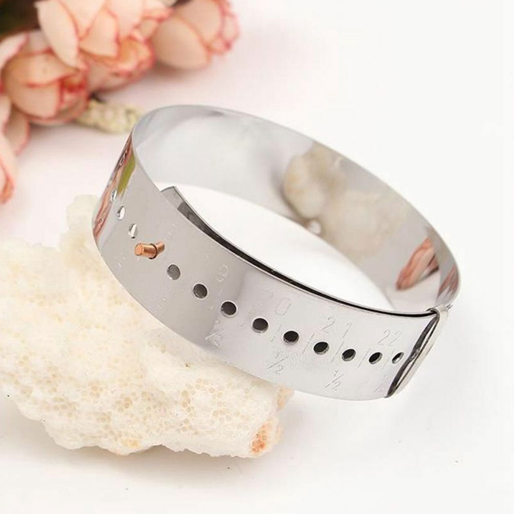 Bracelet Gauge Adjustable Daily For Jewelry Store Simple Bangles Measures Sizing Tools Knotted Durable Stainless Steel