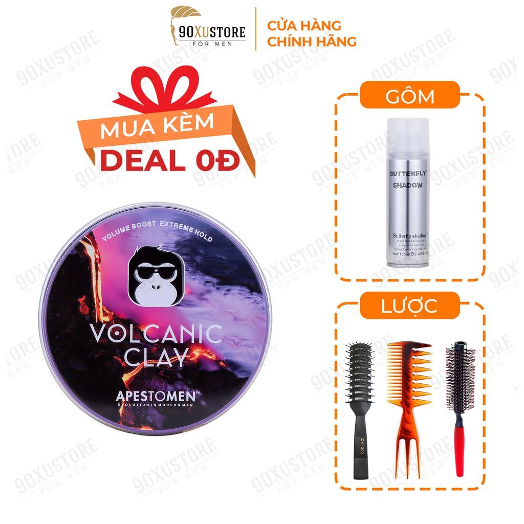 Sáp vuốt tóc nam Volcanic Clay V5 chính hãng , chăm sóc tóc , giữ nếp tóc