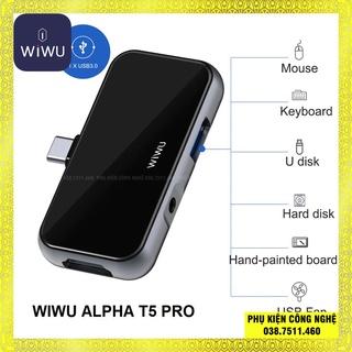 HUB adapter chuyển đổi 4-in-1 WIWU Alpha T5 Pro hỗ trợ macbook thumbnail