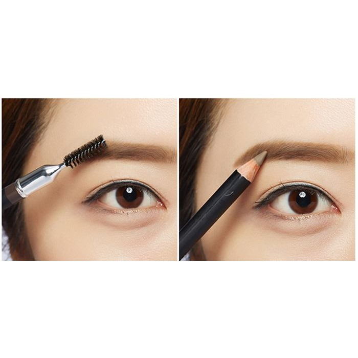 Chì Kẻ Chân Mày Missha The Style Smudge-proof Wood Eyebrow