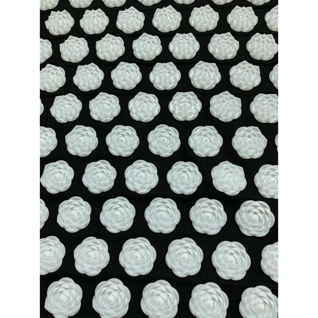 [Thảm + gối + Túi] Thảm bấm huyệt gai Hoa Sen - Màu đen