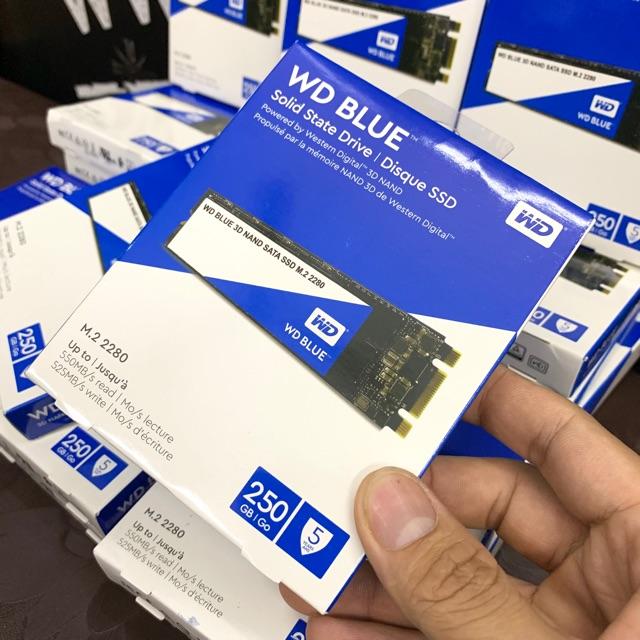 Ổ Cứng SSD Western Blue 250GB Chuẩn M.2 3D NAND New Seal USA Giá chỉ 850.000₫