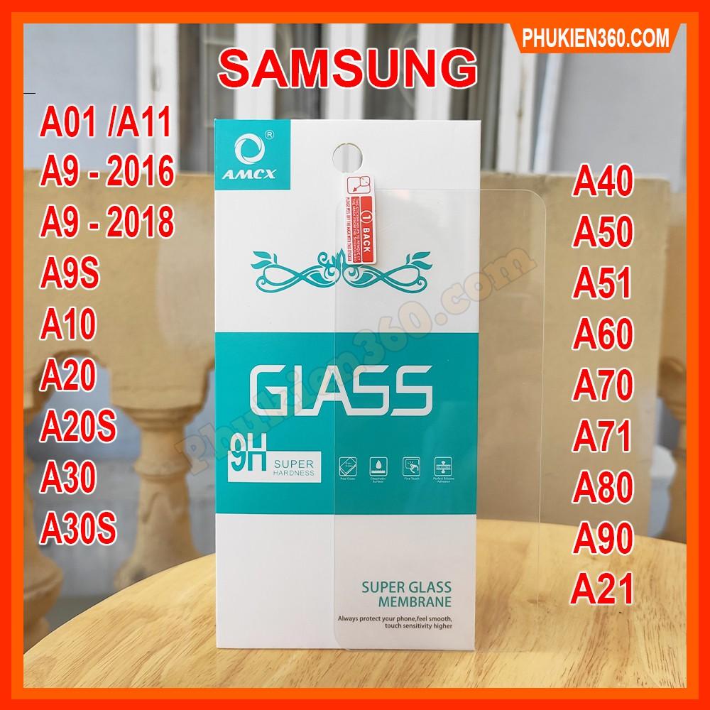 Kính Cường Lực Samsung Trong Suốt A01,A9,A10,A10S,A11,A20,A20S,A21,A21S,A30,A30S,A40,A50,A50S,A51,A60,A70,A71,A80