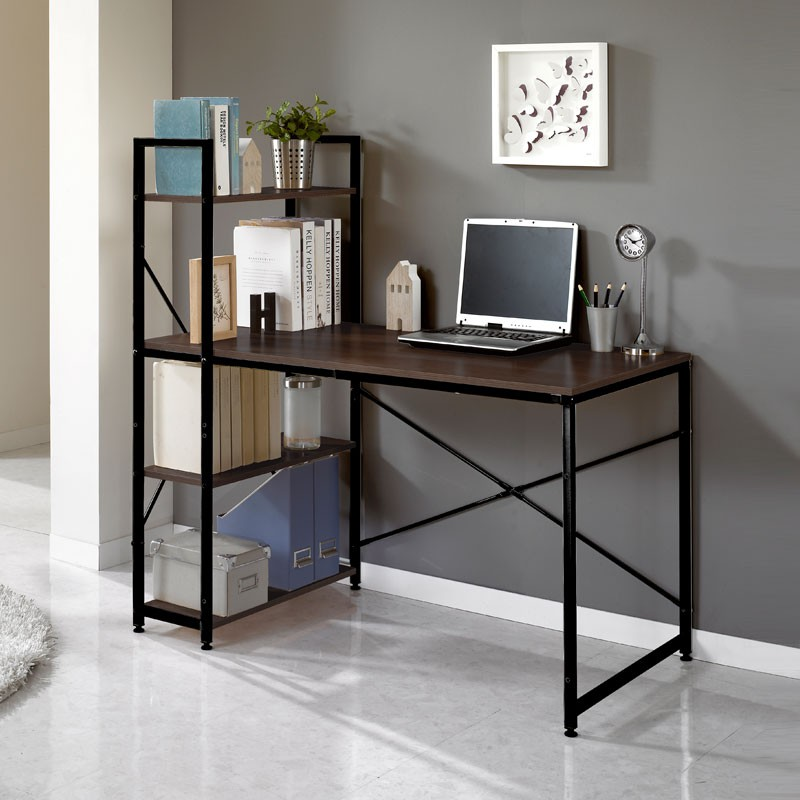 Bàn làm việc , bàn văn phòng , bàn , bàn liền kệ đa năng tiện ích Tâm House mẫu mới 2019 BXG006 (D120xR55xC75)