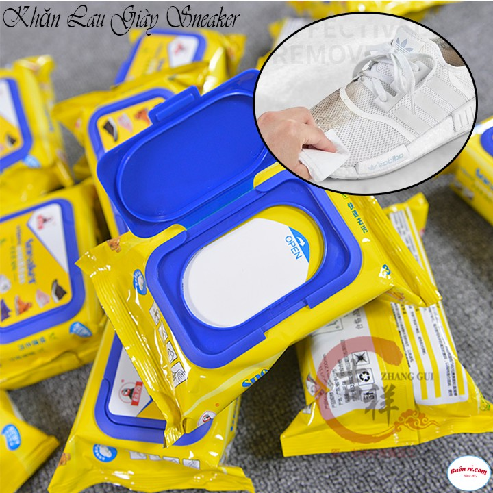 Khăn Giấy Lau Giày Siêu Sạch SNEAKER Hộp 30 Tờ Siêu Hot Không Hoá Chất Làm Hại Vải 00036
