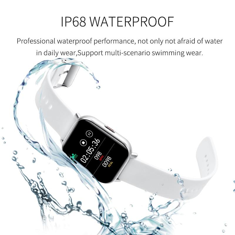 Đồng Hồ Thông Minh Chống Thấm Nước Theo Dõi Nhịp Tim / Huyết Áp Cho Ios Android Và Phụ Kiện