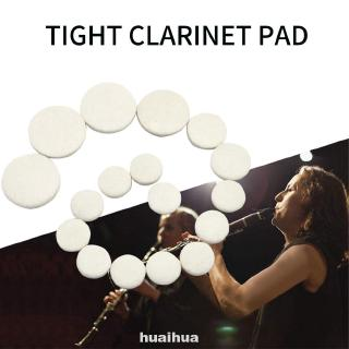 17pcs Woodwind Instrument Parts Training Replacement Tight Musical Universal Sealing Clarinet Pad