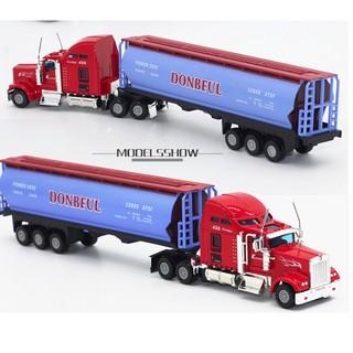Xe đầu kéo container kéo xe bồn tỉ lệ 1:48 đầu xe bằng sắt
