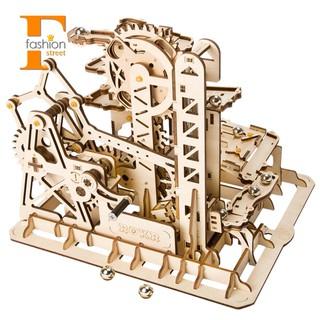 ☀FS SHOP☀Robotime Run Game Diy Roller Coaster Wooden Model Building Kit Lg504