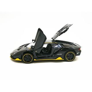 Mô hình xe Lamborghini LP770-4 SV 1:32 bản đen sần viền vàng