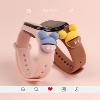 Dây đeo tay thể thao thay thế kiểu hoạt hình đáng yêu cho Xiaomi Mi Band 3/4