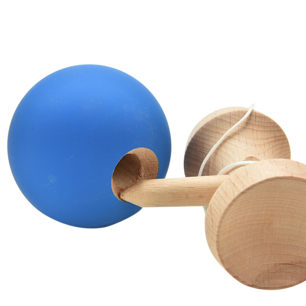 1 Pcs Kendama Japanese Traditional Game Skillful Wooden Toy Rubber Paint Ball
