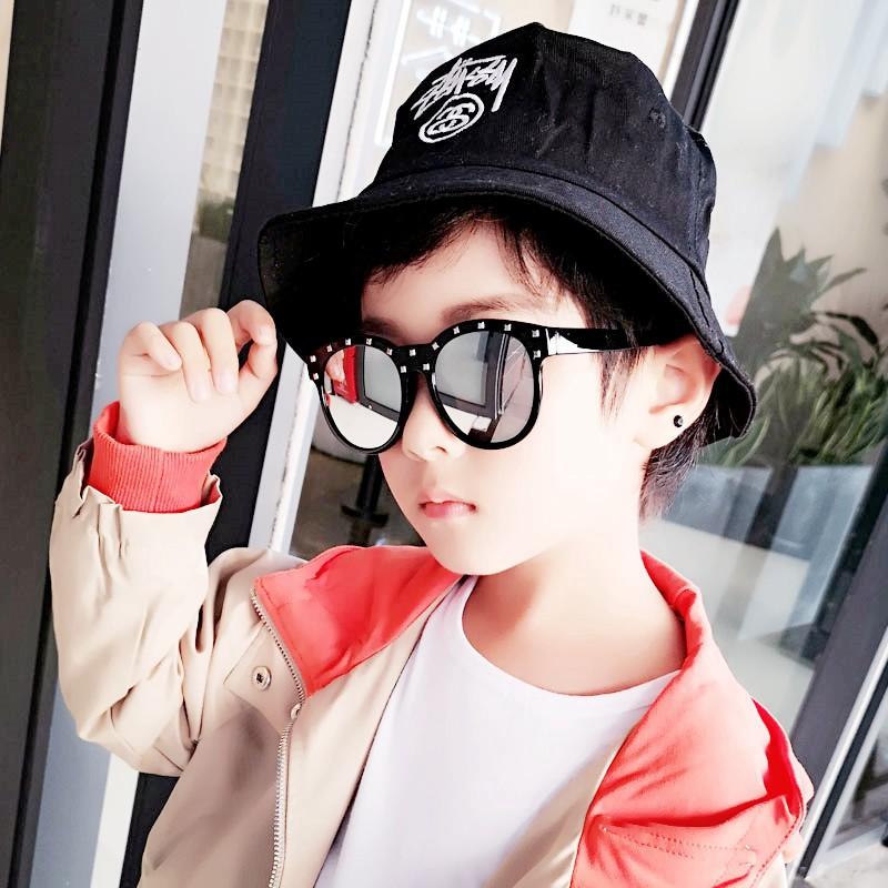 🔥แว่นตาเด็ก แว่นกันแดดเด็ก แว่นแฟชั่นเด็ก ใส่เท่ห์ๆ ถ่ายรูปKids Baby Sunglasses Punk Light UV400 Girl & Boys Riveted