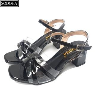 Dép cao gót SODOHA thời trang quai trong kết hợp đế cao 5cm _ DB2886 thumbnail