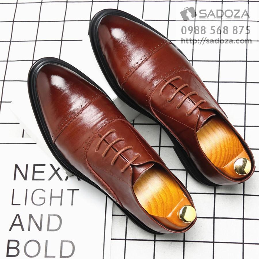 Giày tây nam công sở oxford nam tính da bò (thường + tăng chiều cao) GD91