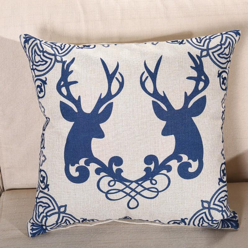 Gối tựa lưng, gối tựa lưng sofa vải gai cỡ 45x45cm (Bao gồm vỏ gối và ruột gối)